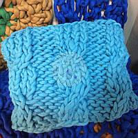 Подушка из толстой пряжи меринос