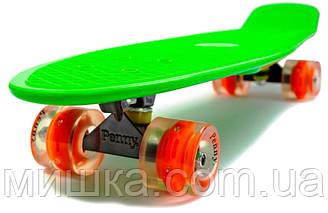 """Пенниборд Nickel 27"""" Green, світяться колеса"""