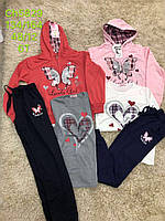 Трикотажный костюм 3 в 1 для девочек, S&D, 134-164 см,  № CH-5829