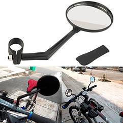 Зеркало заднего вида велосипедное на руль (пластик, две степени свободы)