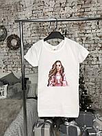 Базовая футболка женская. Стильная женская футболка белого цвета. , фото 1