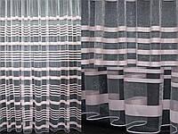 "Тюль фатин с принтом, коллекция ""Катрин"". Цвет пудра.  (3х2,5) Код 213т 40-150, фото 1"