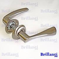 Дверные ручки на круглой розетке BRILLANTI AL-016 SN (матовый никель)