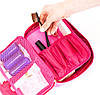 Дорожная косметичка с органайзером для кистей ORGANIZE (розовый), фото 3