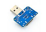 Переходник USB ( папа мама) type-c ( мама ) Micro USB ( мама ), фото 3