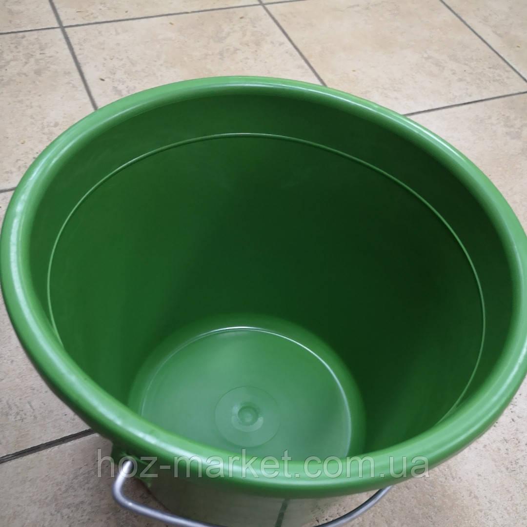 Відро для саду і городу пластмасове 10 л (кольорове)