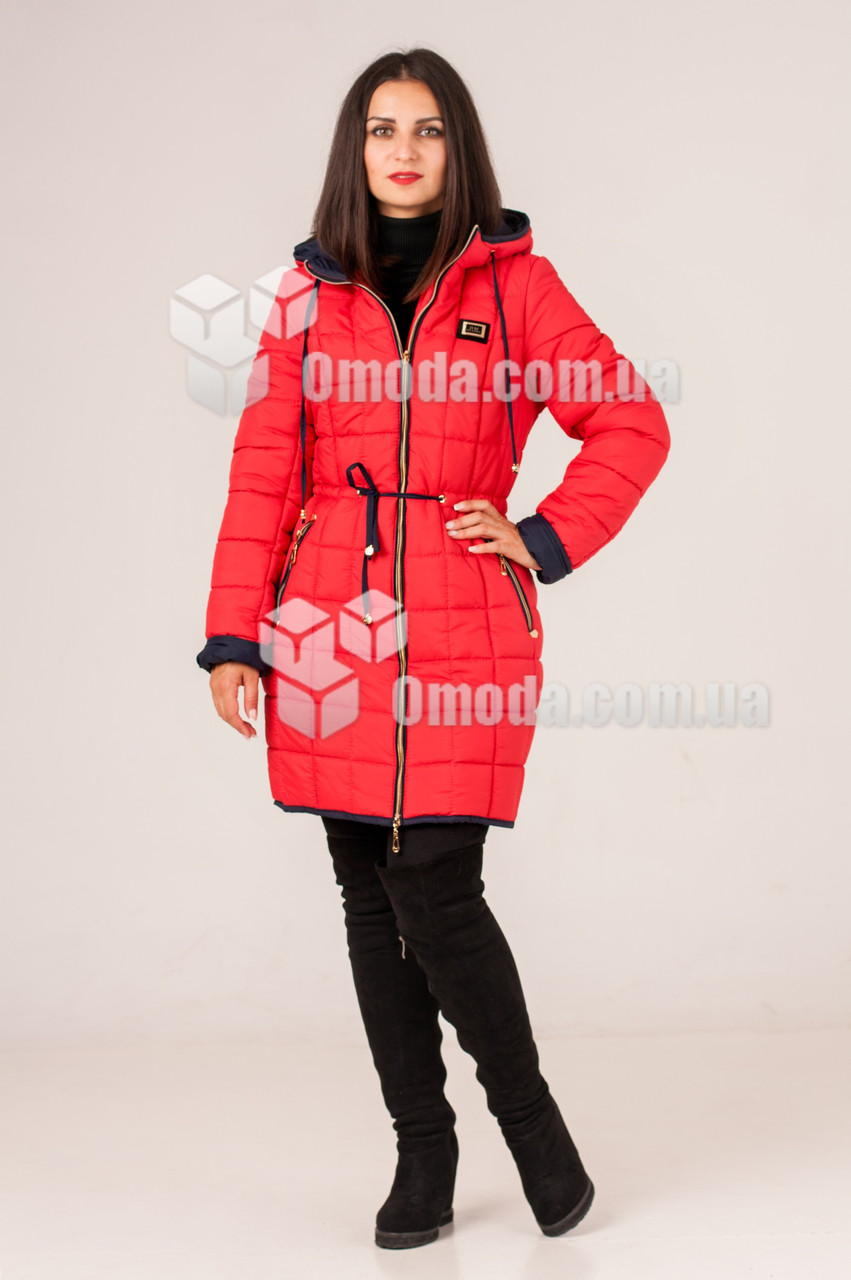 Куртка женская стеганая Феби красная