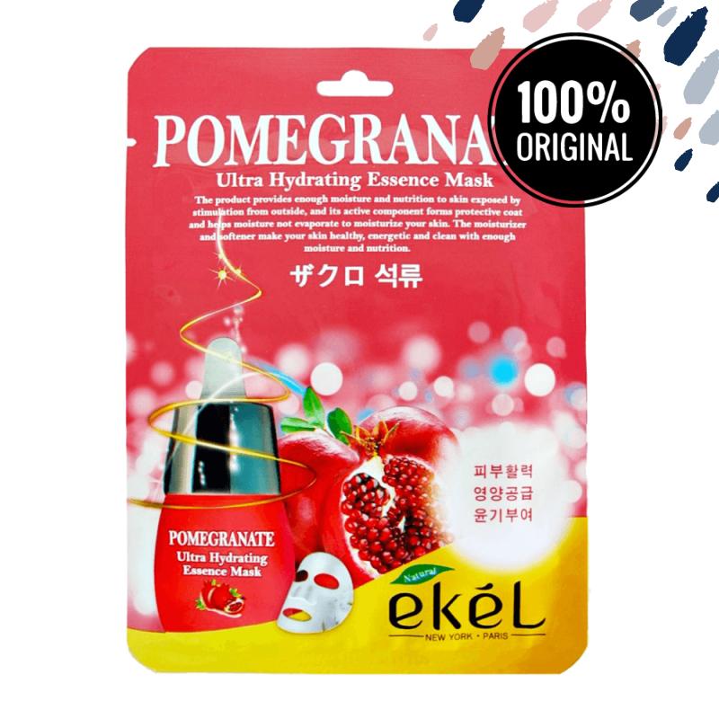 Восстанавливающая тканевая маска с экстрактом граната EKEL Ultra Hydrating Essence Mask Pomegranate