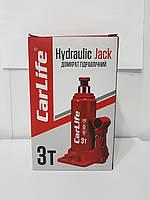 Домкрат гідравлічний CarLife BJ403 3т 180/340мм