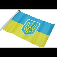 Флажок на палочке с гербом Украины 14 х 21 см
