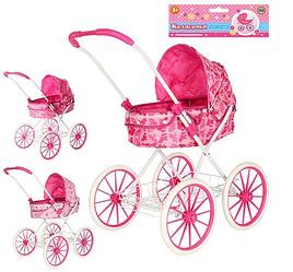 Коляска для кукол 8826BN игровая для девочки розовая