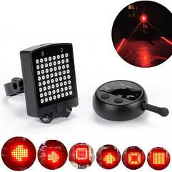Вело-габарит поворотний 64 LED з лазерними доріжками і з бездротовим пультом Д/У LEADBIKE A112 (USB)