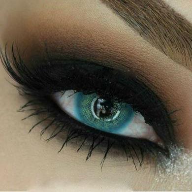 Цветные линзы для глаз Blue (для тёмных и светлых глаз) Купить цветные линзы для глаз в Украине!