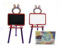 Детская 2 сторонняя Доска-мольберт для рисования магнитная