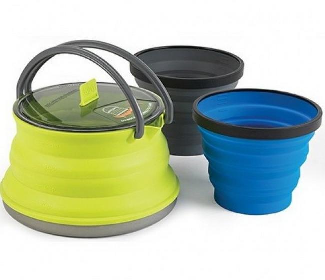 Набір посуду Sea to Summit STS X-Kettle 2 X MUG (чайник, 2 чашки)