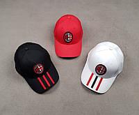 Кепка, бейсболка Милан черная, белая, красная