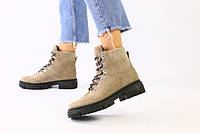 Женские зимние ботинки низкий ход