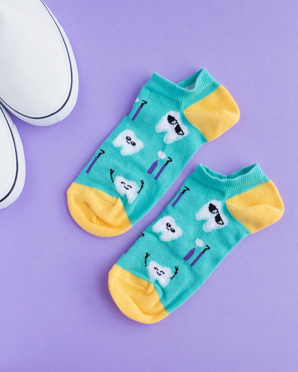 """Шкарпетки-сліди """"Teeth mint"""""""