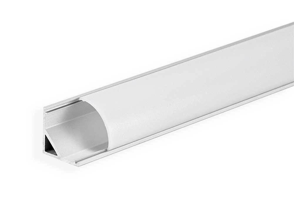 КОМПЛЕКТ!!! (профиль аллюминиевый LED ЛПУ-16А + рассеиватель матовый LM-R16), анодированный (палка 2 метра)