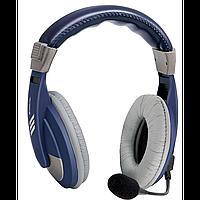 Наушники с микрофоном defender hn-750 blue накладные полноразмерные (63748)