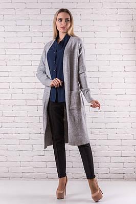 Женский кардиган модный  48-52 серый