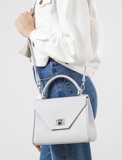 Жіноча шкіряна сумка біла CAPETOWN S