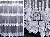 Тюль фатин с вышивкой, цвет белый. (3х2,5м)  Код 280т 40-163, фото 1