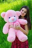 """Мягкая игрушка плюшевый мишка """"Нестор"""" розовый 80см"""
