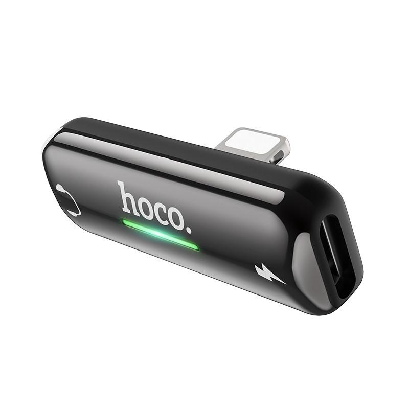 Переходник на 2 Lightning Hoco LS27 Apple Dual Lightning цифровой аудио конвертер Gray