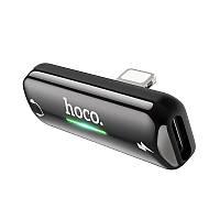 Переходник на 2 Lightning Hoco LS27 Apple Dual Lightning цифровой аудио конвертер Gray, фото 1