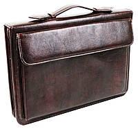 Мужская папка-портфель из эко кожи Exclusive 711200 коричневая