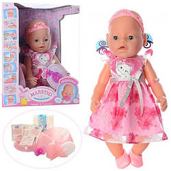 Кукла Пупс Baby born Принцесса 8020-469 9 функций и 9 аксессуаров