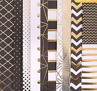 Набор бумаги для скрапбукинга с фольгированием «Магический чёрный», 10 листов 30.5 × 30.5 см 180 г/м2