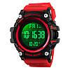 SKMEI 1384 красные спортивные мужские большие часы, фото 5
