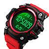 SKMEI 1384 красные спортивные мужские большие часы, фото 3