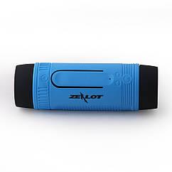 """Вело MP3-плеєр ТМ """"ZEALOT"""" S1 """"3-в-1"""" (Bluetooth/гучний зв'язок, діод CREE Q5, повербанк 3500 мАч) БЛАКИТНИЙ"""