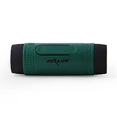 """Вело MP3-плеєр ТМ """"ZEALOT"""" S1 """"3-в-1"""" (Bluetooth/гучний зв'язок, діод CREE Q5, повербанк 3500 мАч) ЗЕЛЕНИЙ"""
