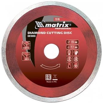 Диск алмазный отрезной сплошной, 230 х 22,2 мм., мокрая резка MTX Professional (731919)