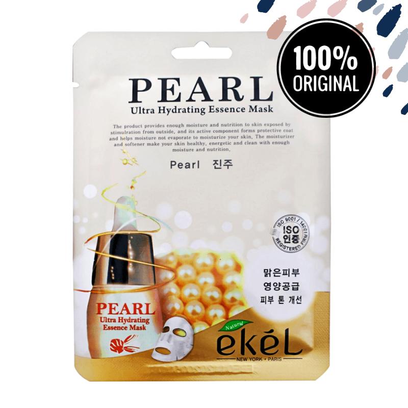 Выравнивающая тон тканевая маска с жемчугом EKEL Ultra Hydrating Essence Mask Pearl