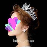 Melody - Висока діадема з кристалами та перлинами (7 см), фото 2