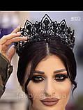 Melody - Висока діадема з кристалами та перлинами (7 см), фото 4