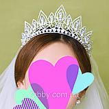 Melody - Висока діадема з кристалами та перлинами (7 см), фото 7
