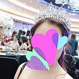 Melody - Висока діадема з кристалами та перлинами (7 см), фото 8