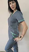 Женский медицинский костюм Шарм-кант короткий рукав, фото 1