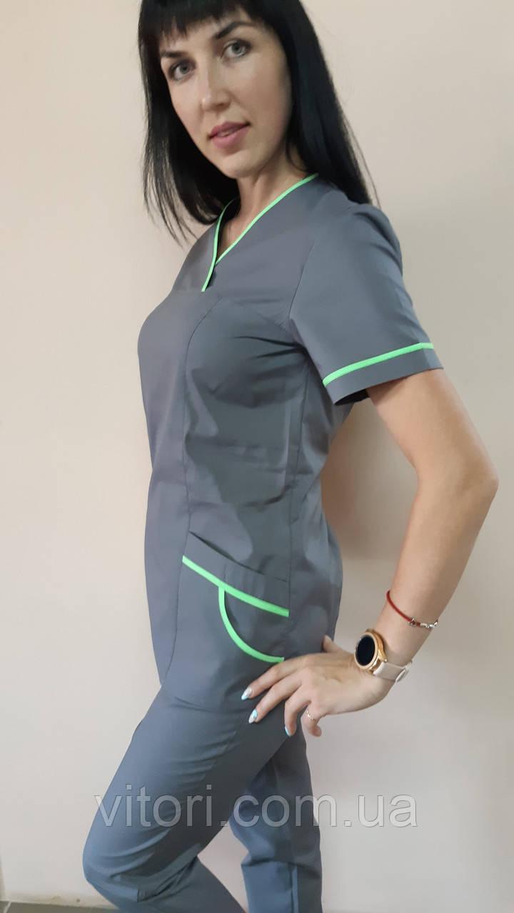 Женский медицинский костюм Шарм-кант короткий рукав