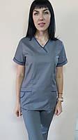 Жіночий медичний костюм Шарм-кант короткий рукав бавовна