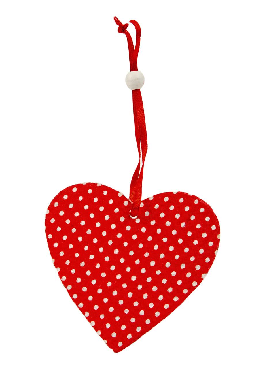 """Елочная игрушка """"Сердце"""" Coincasa 8х8,5см"""