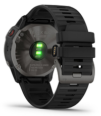 Смарт-годинник Garmin fenix 6X Sapphire - Carbon Gray DLC with Black Band, фото 3