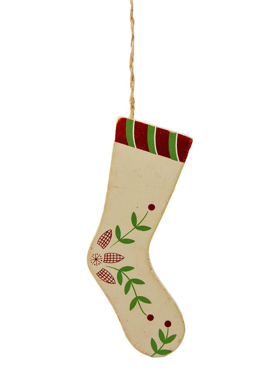 """Декоративная подвеска """"Новогодний носок"""" Coincasa 5х15,5см"""