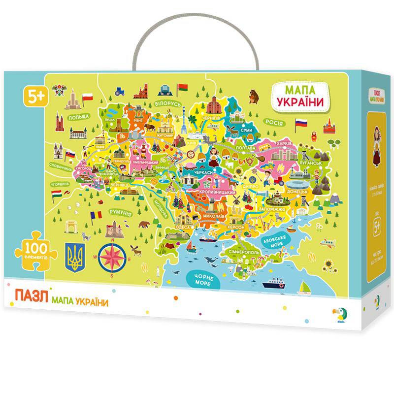 Пазлы Карта Украины Dodo300109